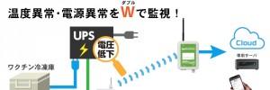 ワクチン冷凍庫の温度と電源を監視・警告!